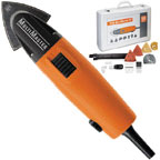 Fein Multimaster 'Top' 230v variable speed sander/saw. In steel case with comprehensive accessory kit.